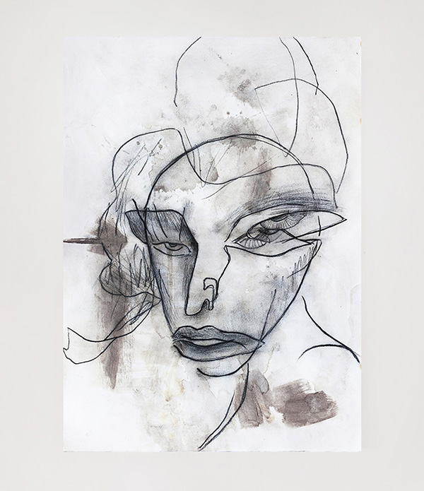 Work on paper 'NO NAME WOMAN' by Mario Mankey